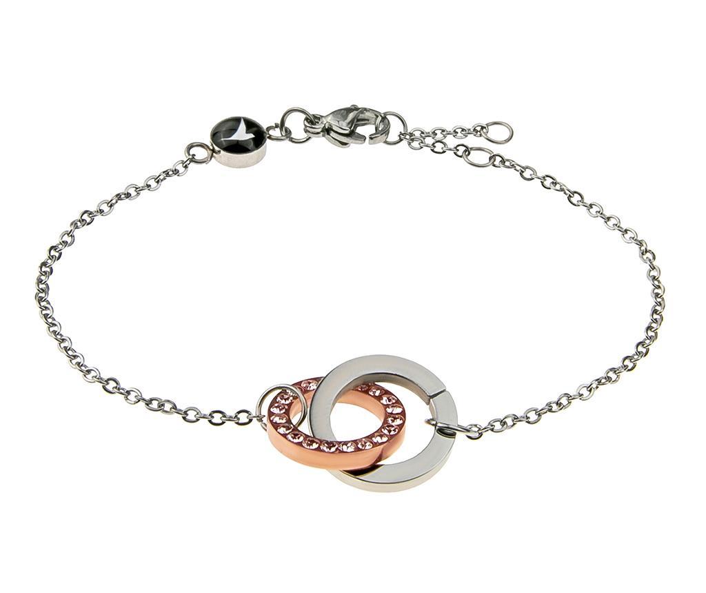 Bratara Rings Rose Silver