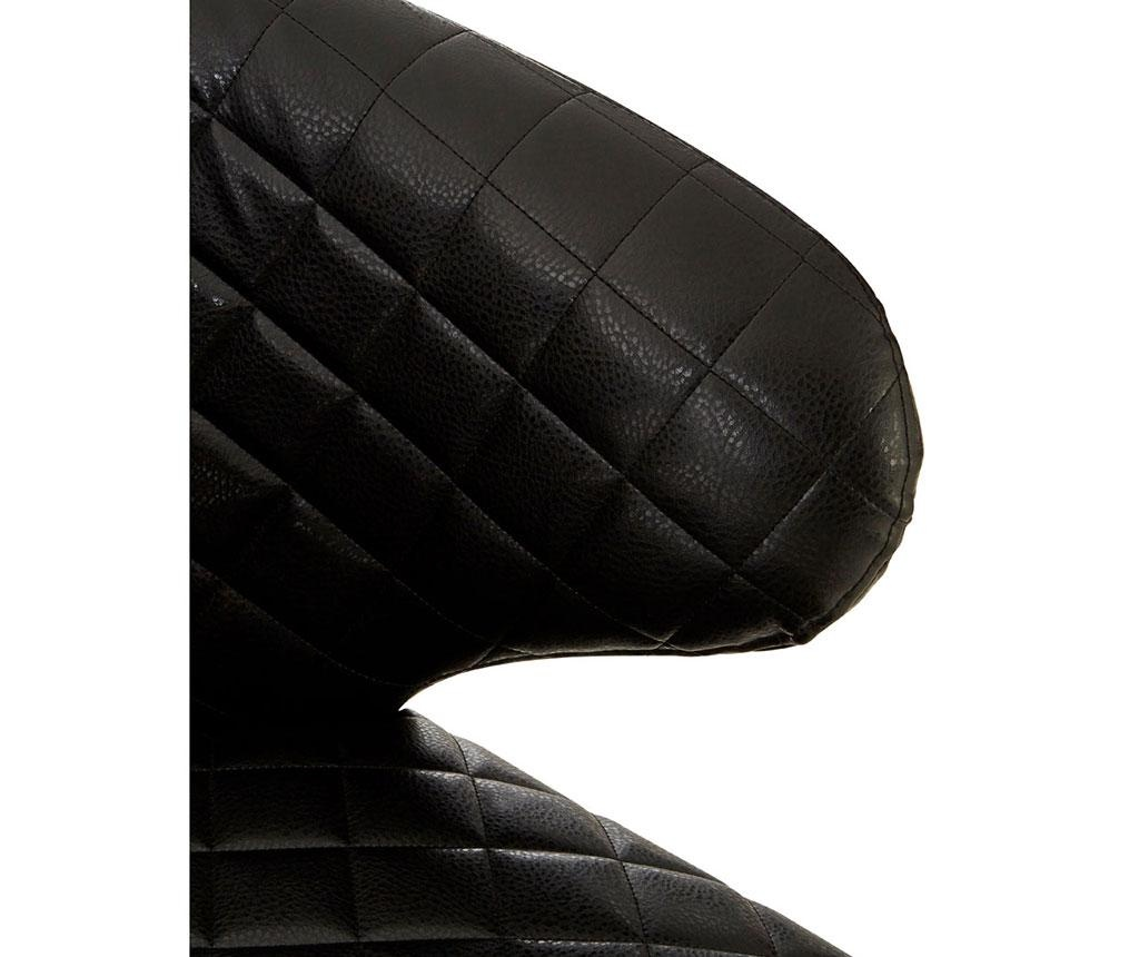 Stolica Wingback Black