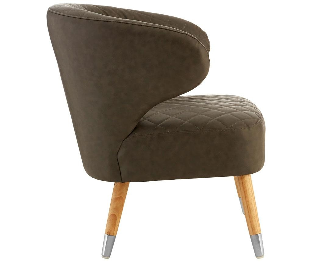 Stolica Wingback Brown