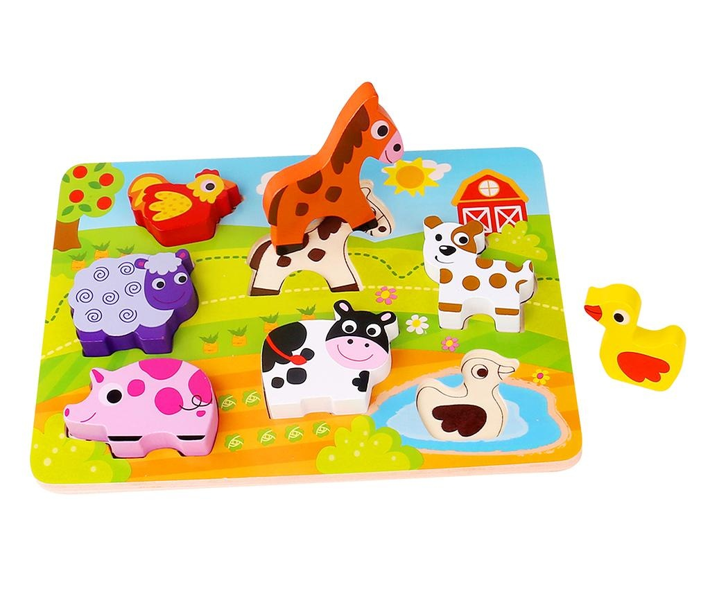 Igra tipa slagalice 7 dijelova Chunky Puzzle  Farm