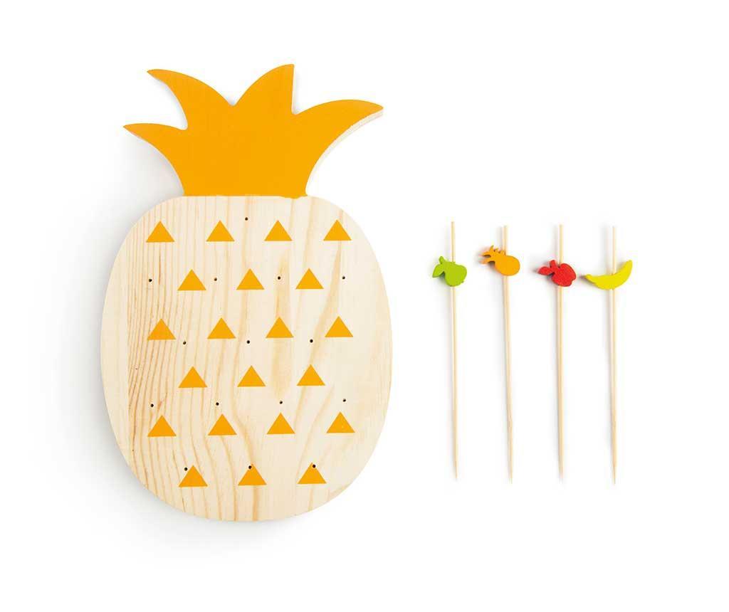 Tropical Pineapple 15 db Előételes pálcika és tartó