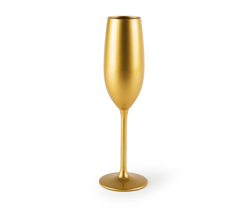 Pahar pentru sampanie Gold 210 ml