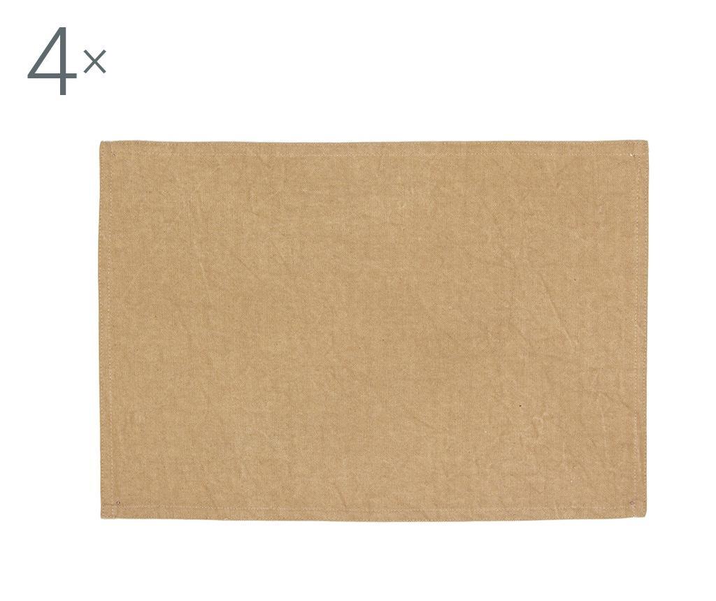 Set 4 suporturi farfurii Jessy Yellow 33x48 cm