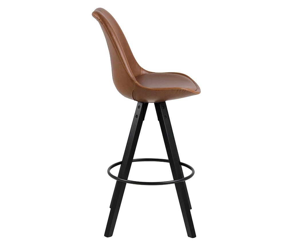 Sada 2 barových židlí Dima Leather Brown
