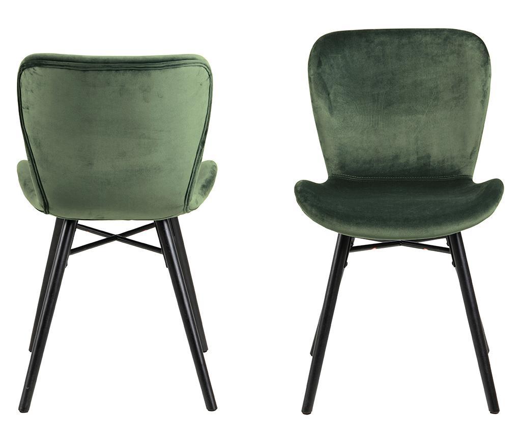 Sada 2 stoličiek Batilda Velvet Green