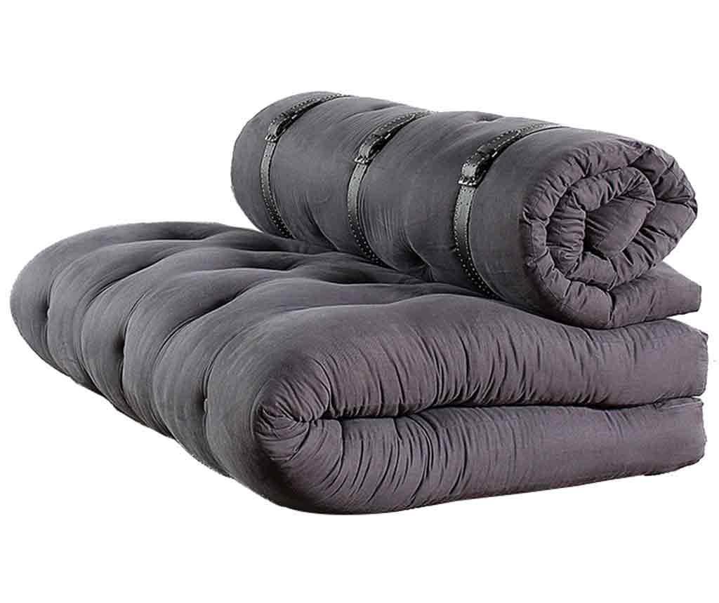 Raztegljiva zofa Buckle Up Dark Grey 140x200 cm