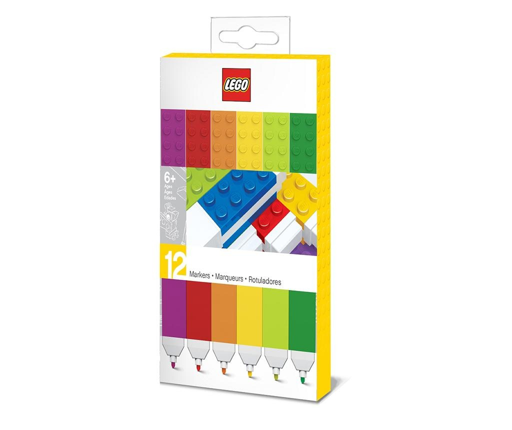 Set 12 markere colorate Lego Rainbow