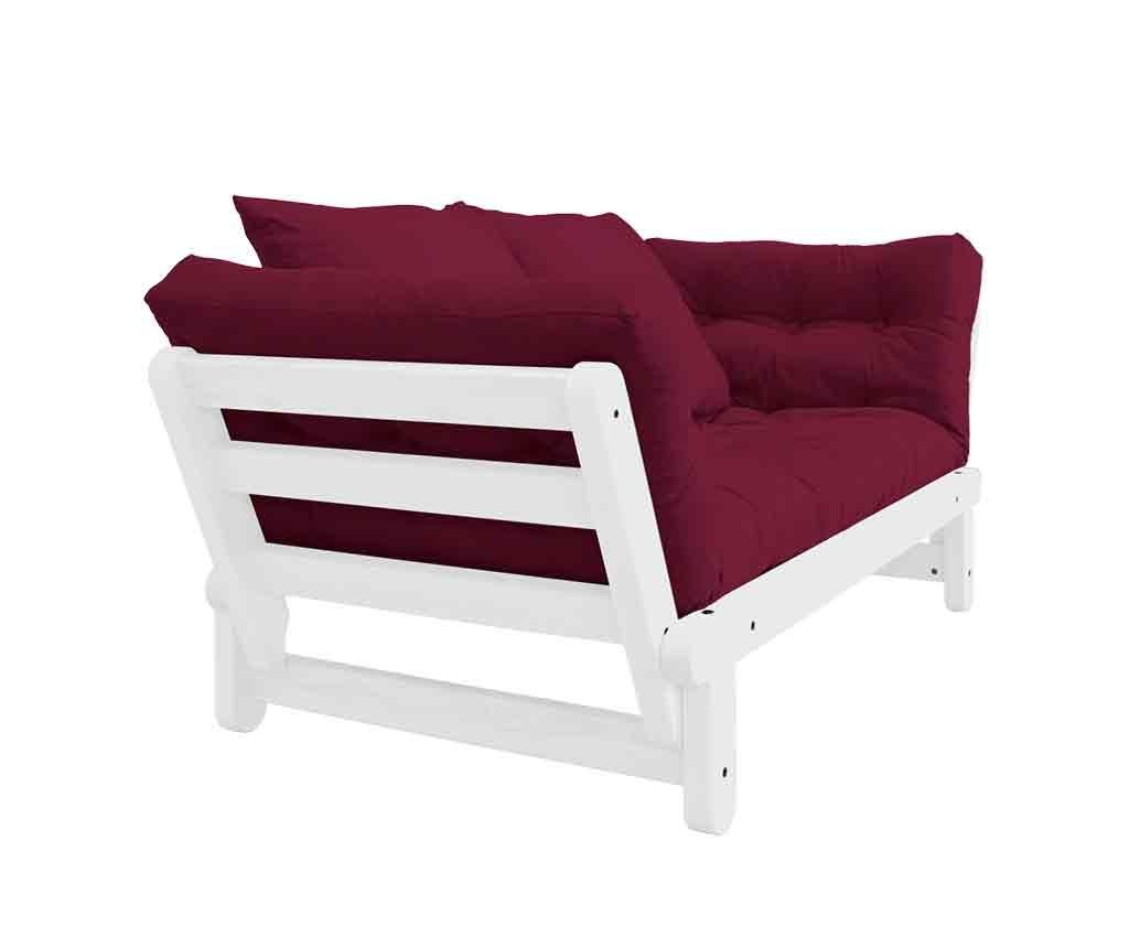 Sofa extensibila Beat White & Bordeaux