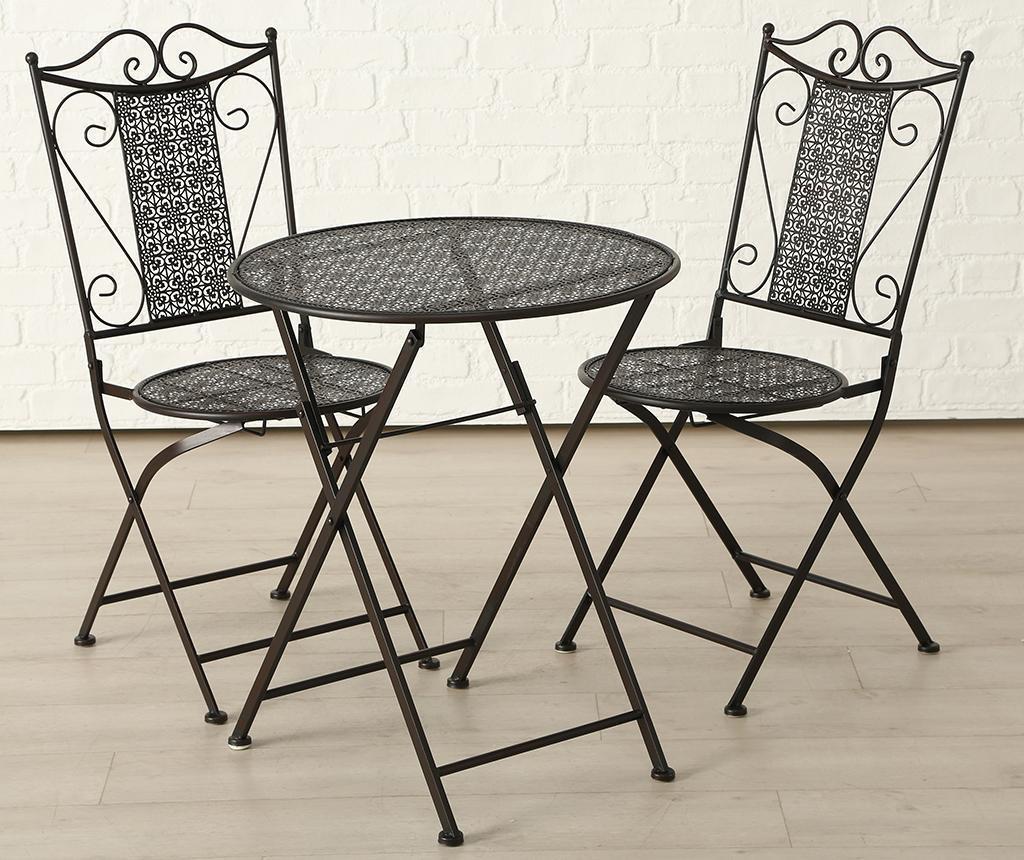 Set - vrtna miza in 2 stola Broder Sina