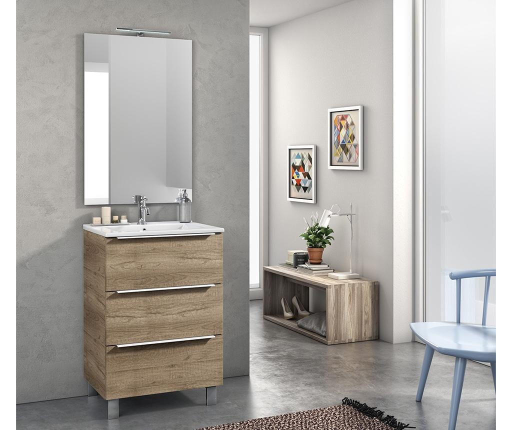 Czteroczęściowy zestaw mebli łazienkowych Malmo Brown