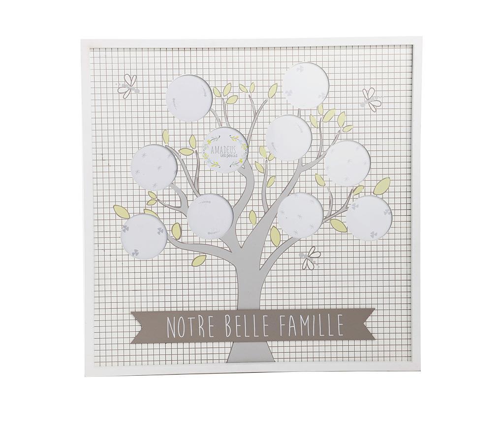 Κορνίζα 10 φωτογραφιών Belle Famille Squares White