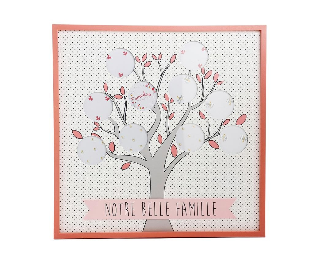 Κορνίζα 10 φωτογραφιών Belle Famille Dots Pink