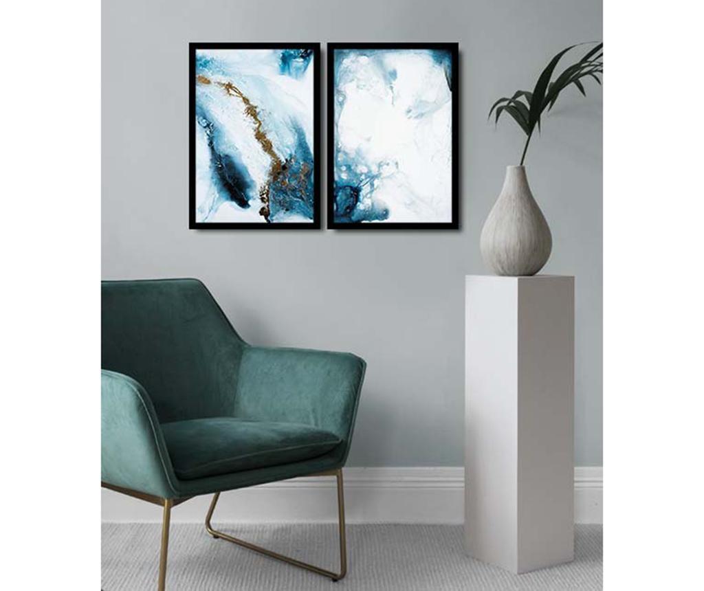 Set 2 slike Abstract Marble 36x51 cm