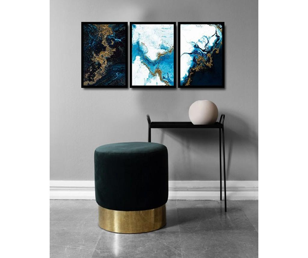Set 3 slik Magical Marble 36x51 cm