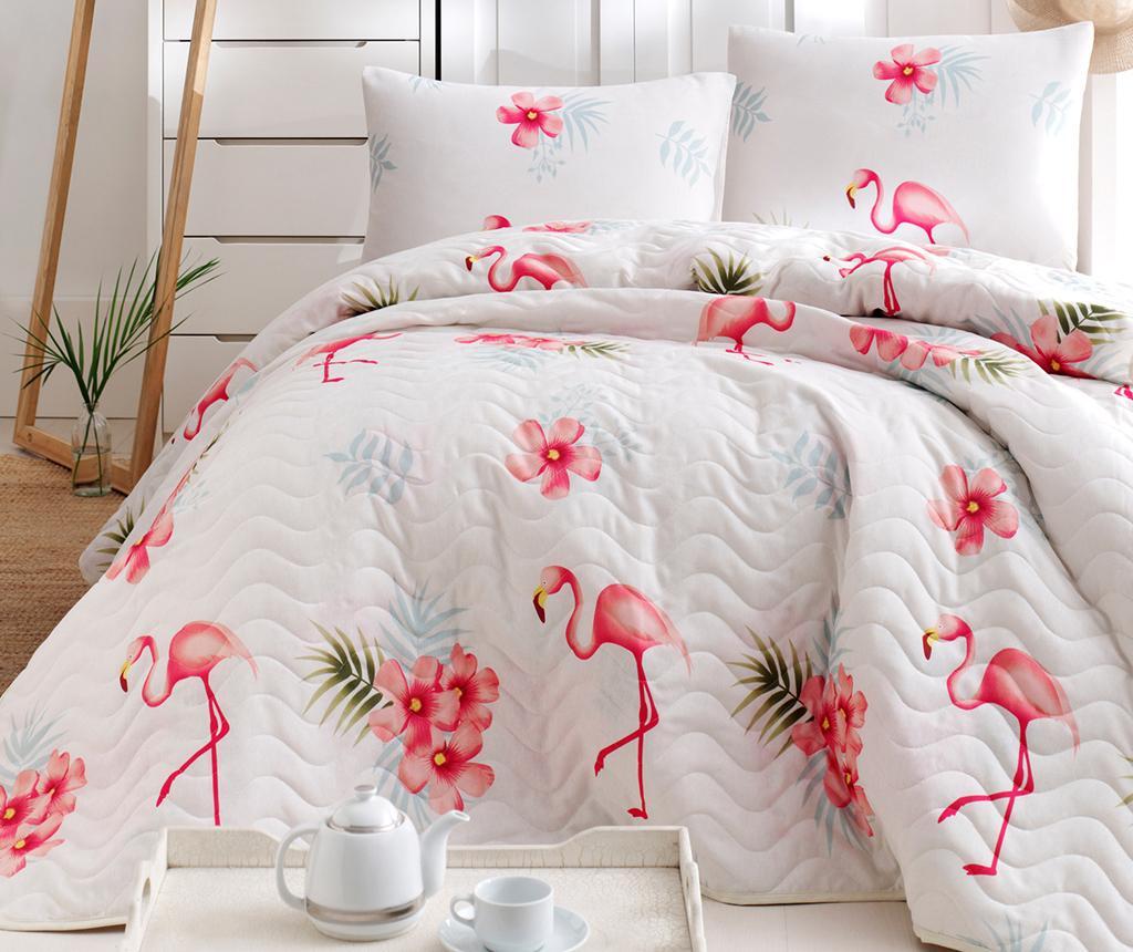 Set s posteljnim pregrinjalom Flamenco Cream