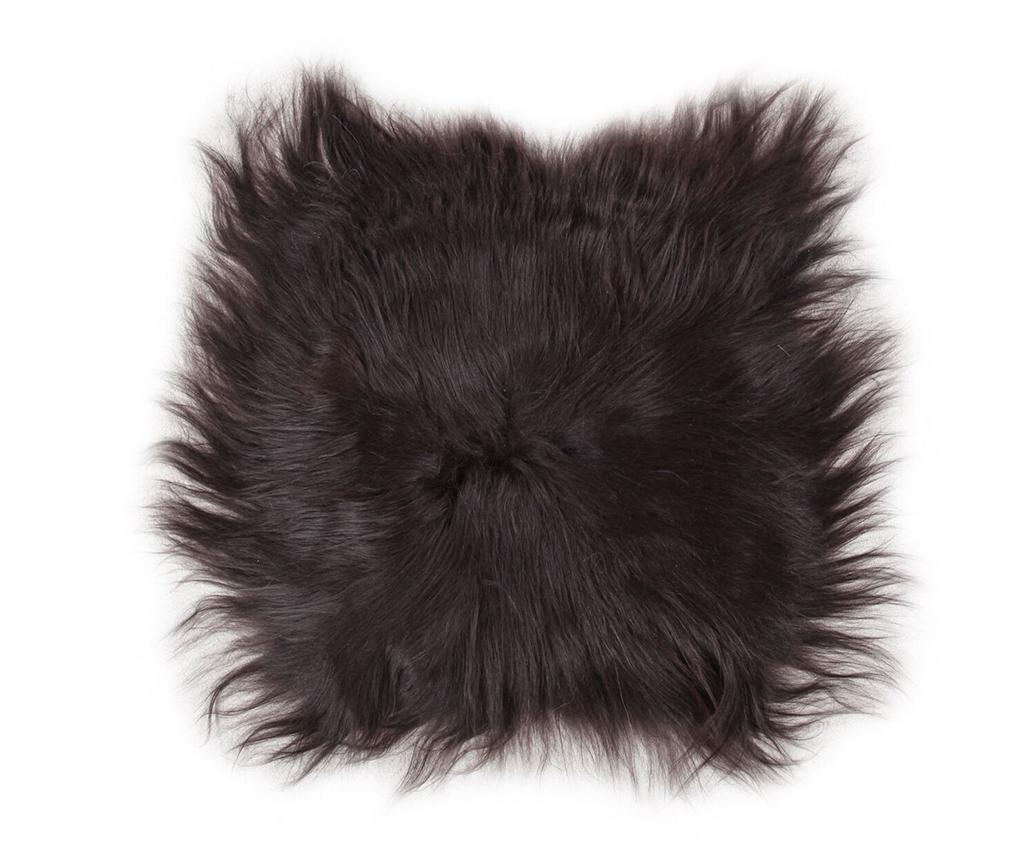 Jastuk za sjedalo Lambskin Natural Black 37x37 cm
