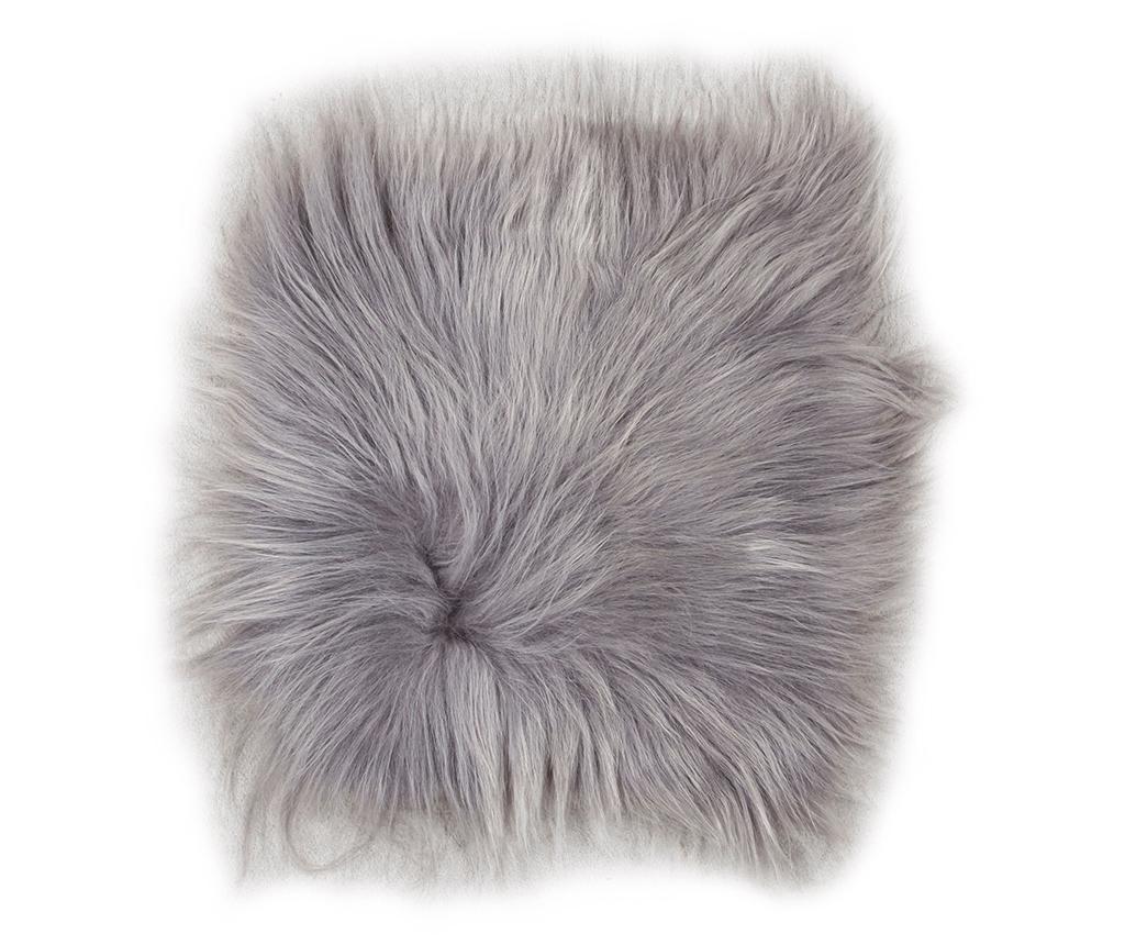 Jastuk za sjedalo Lambskin Grey Brisa 37x37 cm