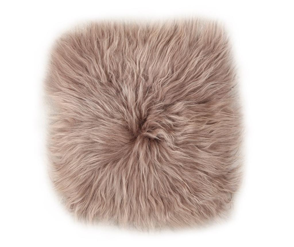 Jastuk za sjedalo Lambskin Taupe 37x37 cm