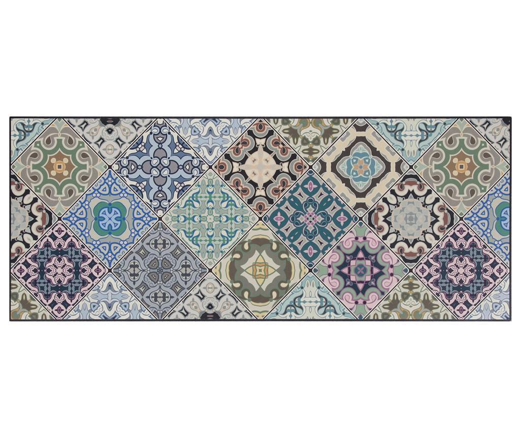 Vista Morocoo Blue Linóleum 50x180 cm