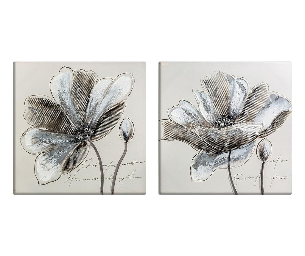 Set 2 tablouri Flowers 50x50 cm