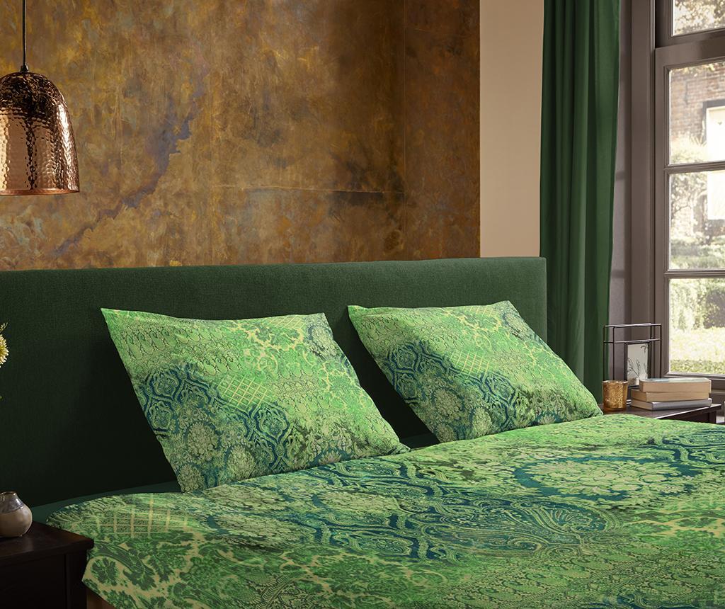 Veronique Green Kétszemélyes Szatén ágynemű