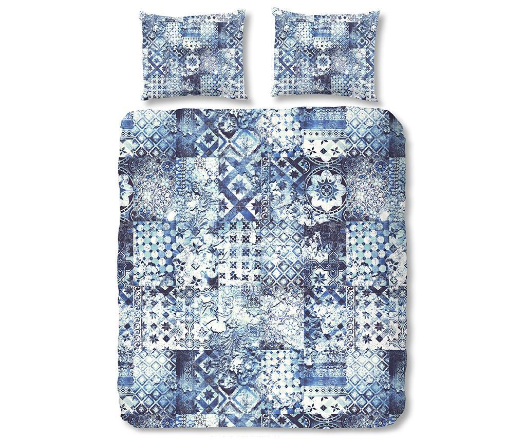 Ernesto Blue Kétszemélyes Szatén ágynemű