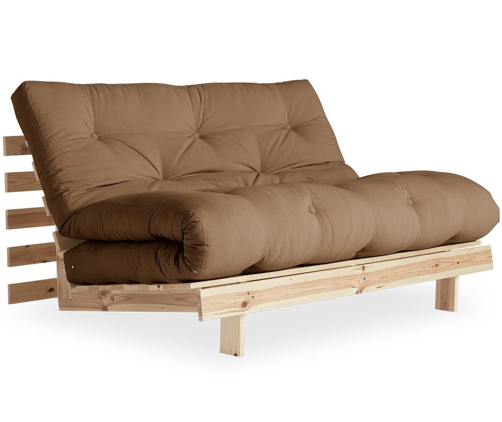 Sofa extensibila Roots Raw & Mocca 140x200 cm