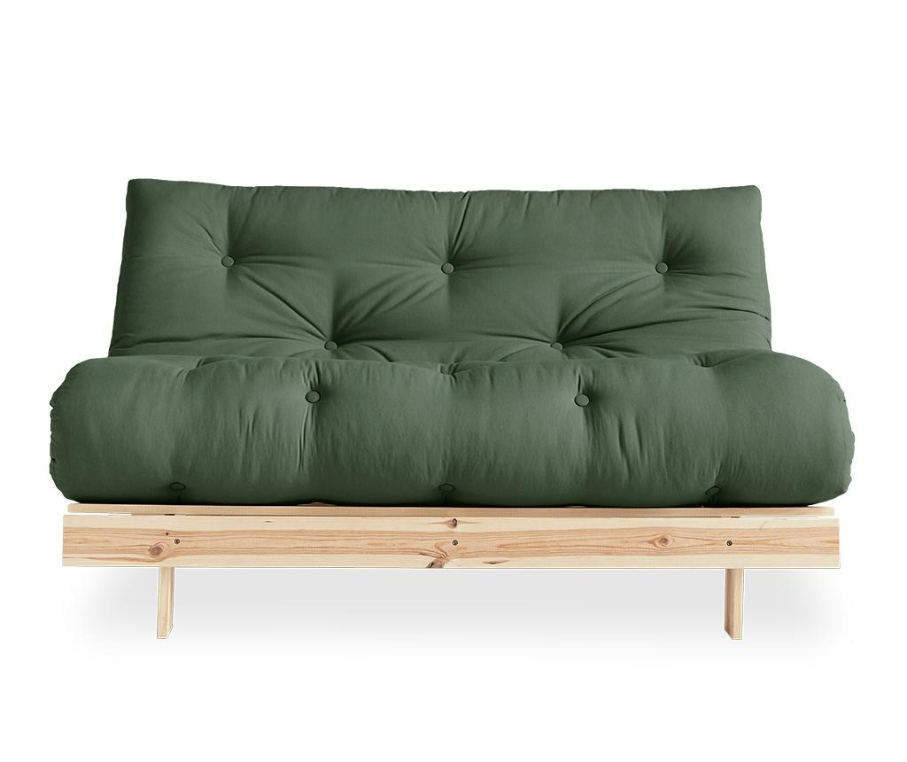 Sofa extensibila Roots Raw & Olive Green