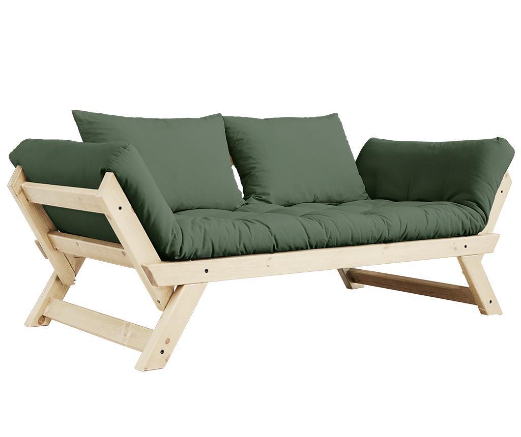 Sofa extensibila Bebop Natural & Olive Green