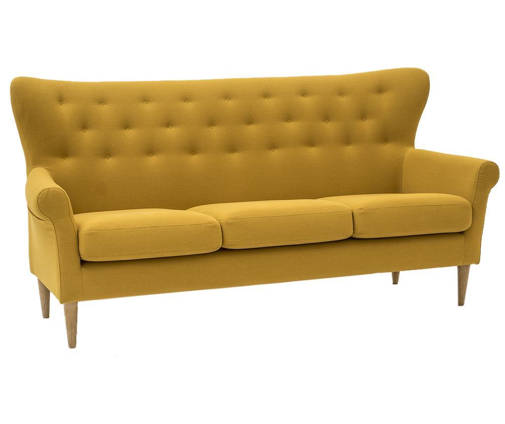 Amelie Cotone Yellow Háromszemélyes kanapé
