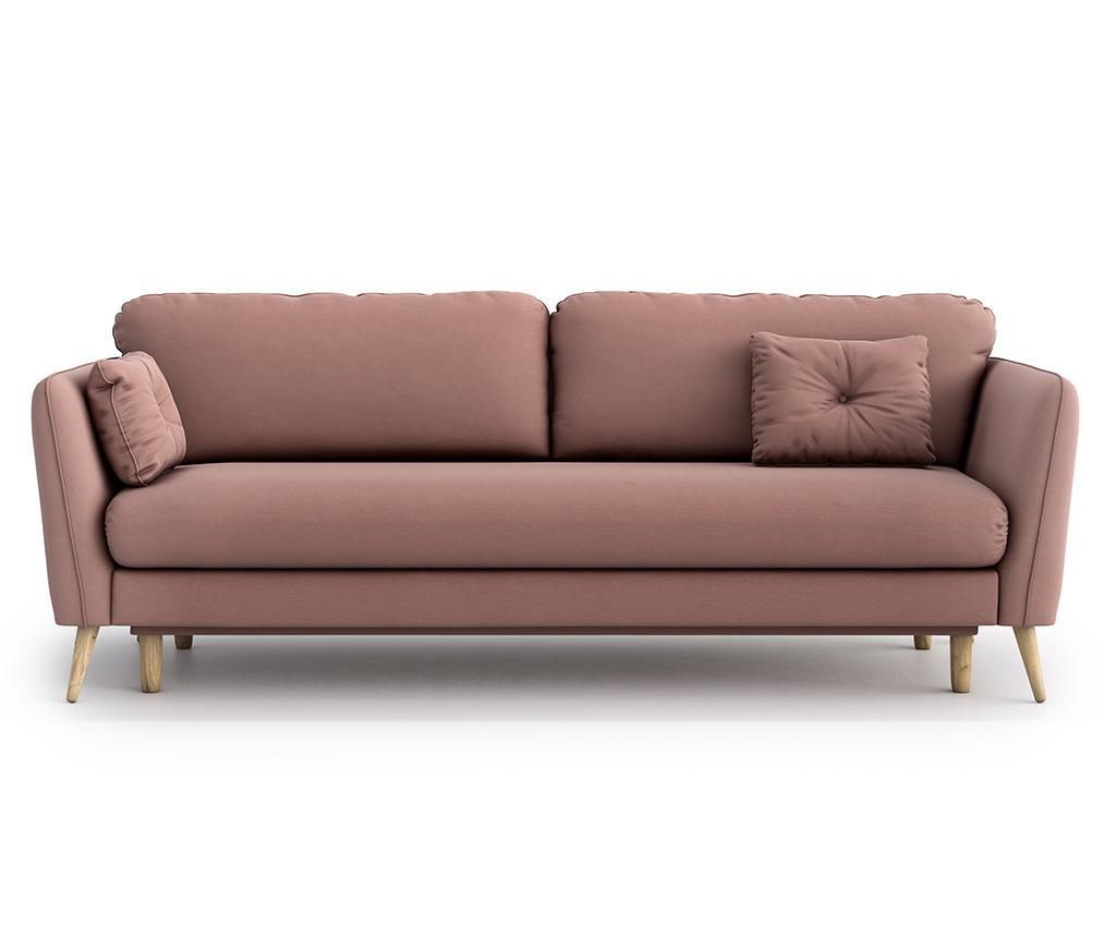 Canapea extensibila 3 locuri Clara Melva Pink