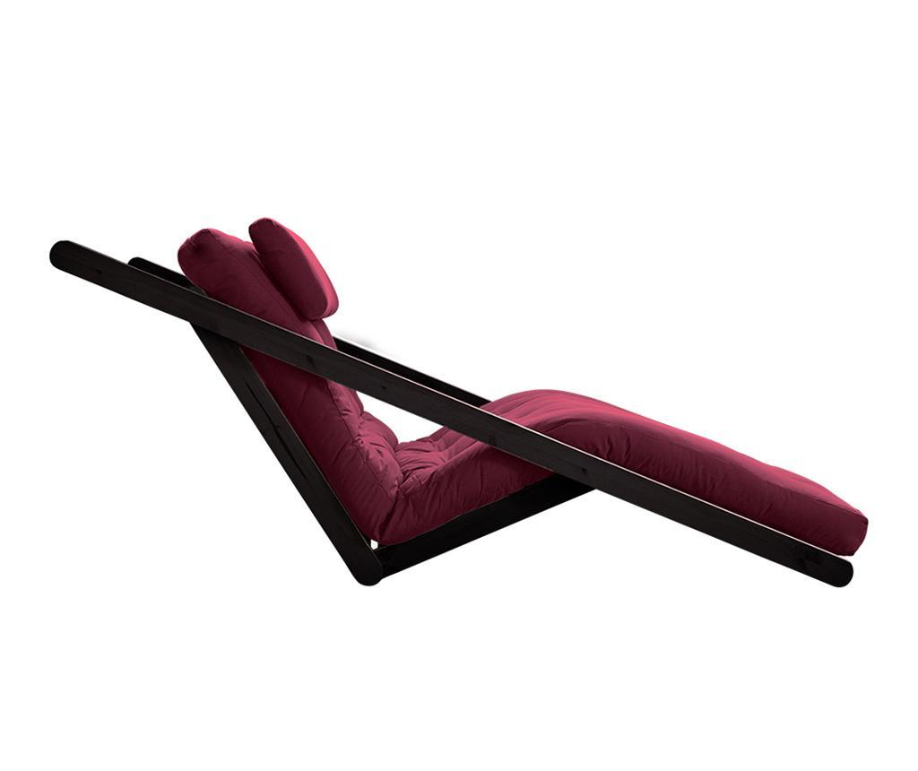 Figo Black & Bordeaux Kihúzható nappali heverő 120x200 cm