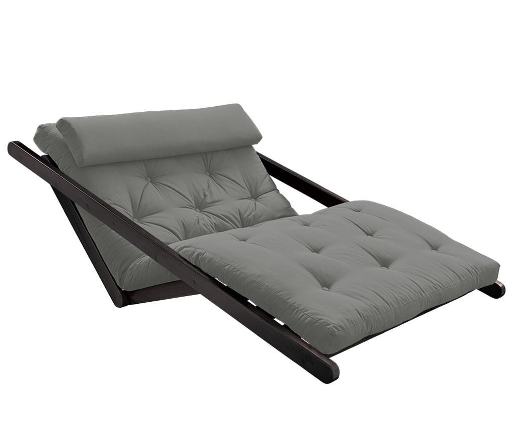 Figo Black & Grey Kihúzható nappali heverő 120x200 cm