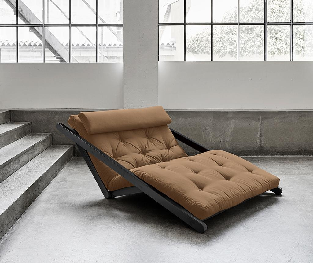Figo Black & Mocca Kihúzható nappali heverő 120x200 cm