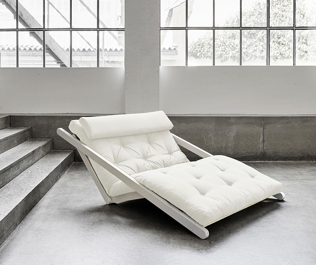 Figo White & Natural Kihúzható nappali heverő 120x200 cm
