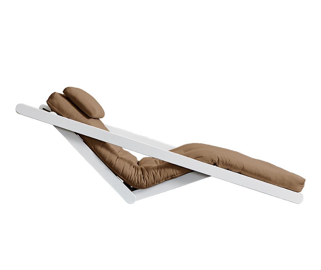 Figo White & Mocca Kihúzható nappali heverő 120x200 cm