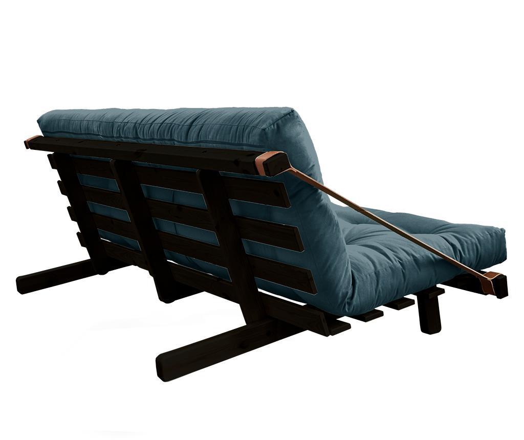 Kauč na razvlačenje Jump Black & Petrol Blue 130x190 cm