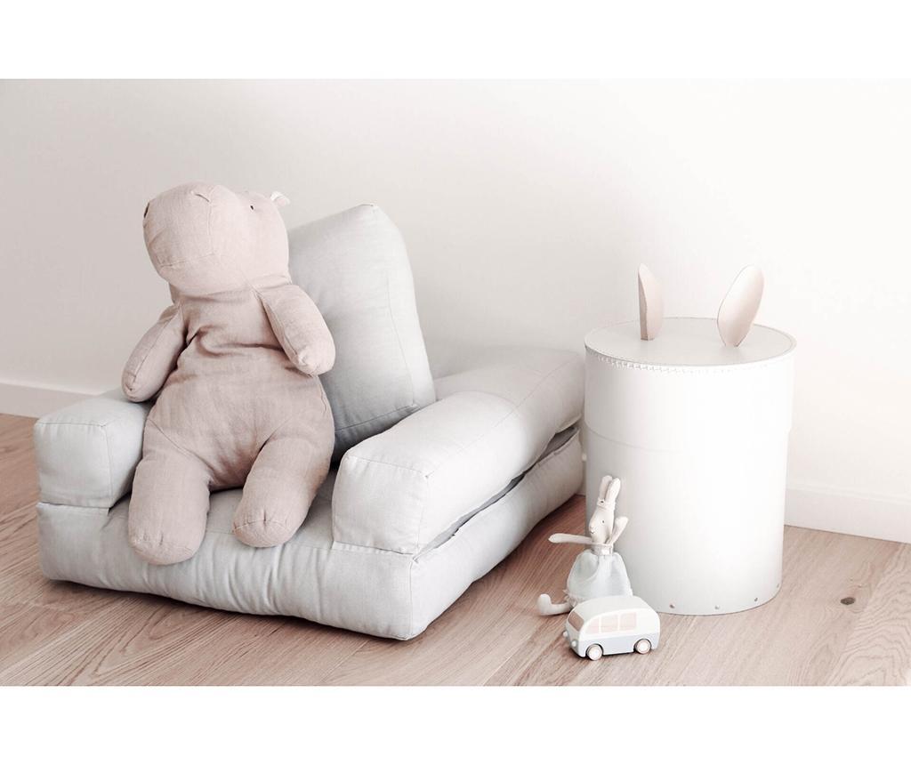 Fotoliu extensibil pentru copii Mini Cube Light Grey 60x135 cm