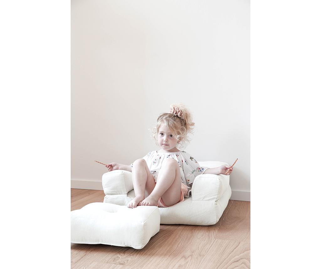 Raztegljiv otroški naslanjač Mini Cube Natural 60x135 cm