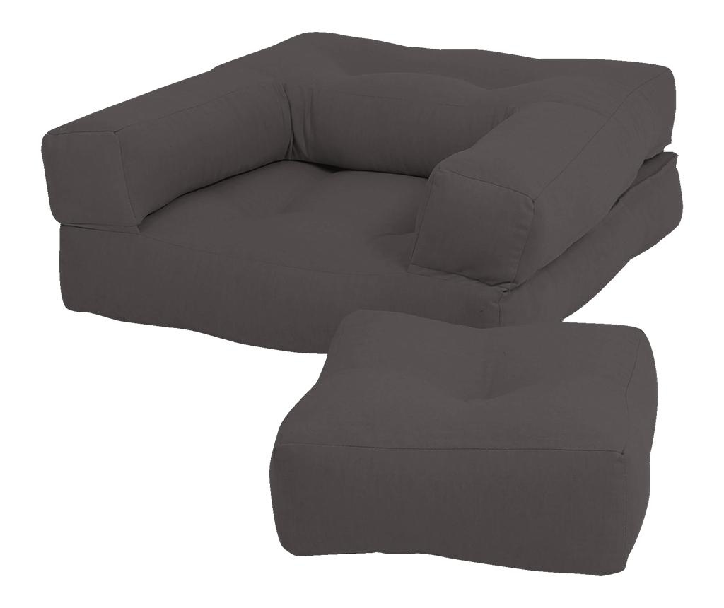 Mini Cube Grey Kihúzható gyerek fotel 60x135 cm