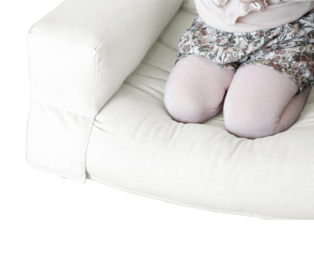 Raztegljiv otroški naslanjač Mini Hippo Natural 65x140 cm