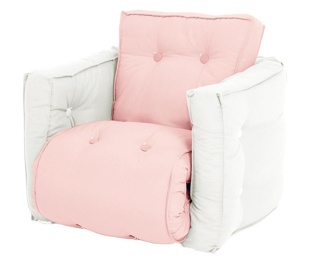 Mini Dice Pink Peonie Kihúzható gyerek fotel 40x140 cm