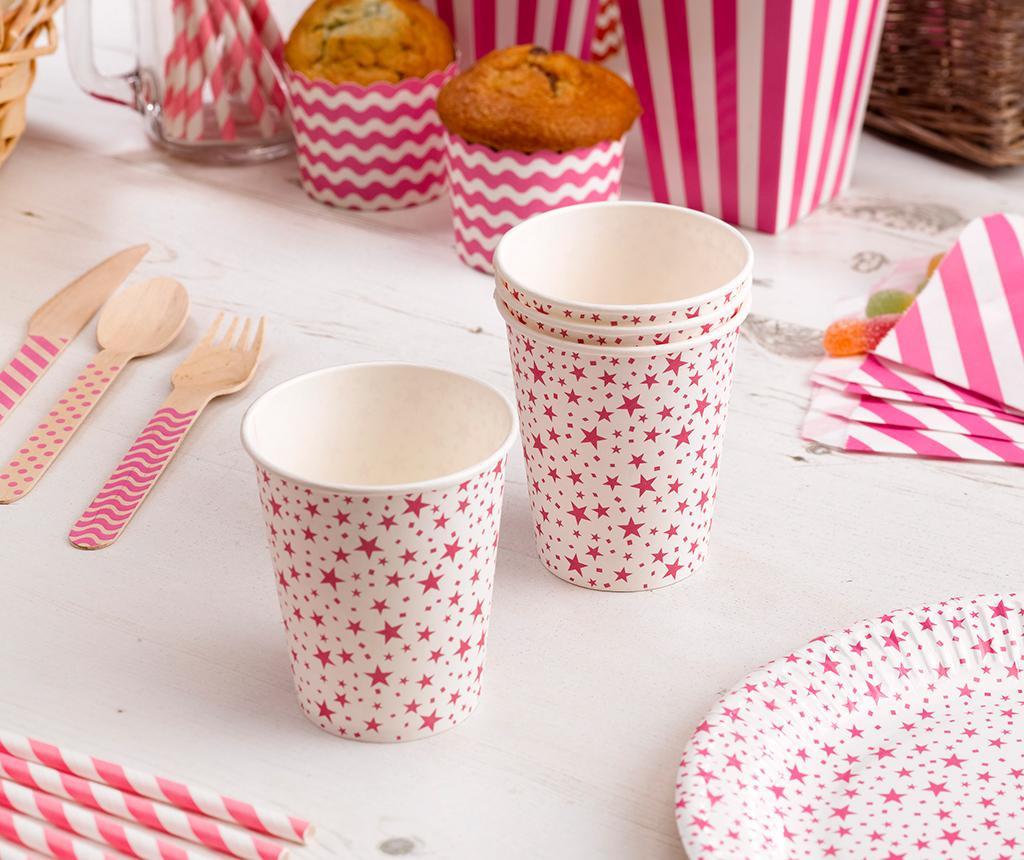 Carnival Stars Pink 8 db Egyszer használatos pohár