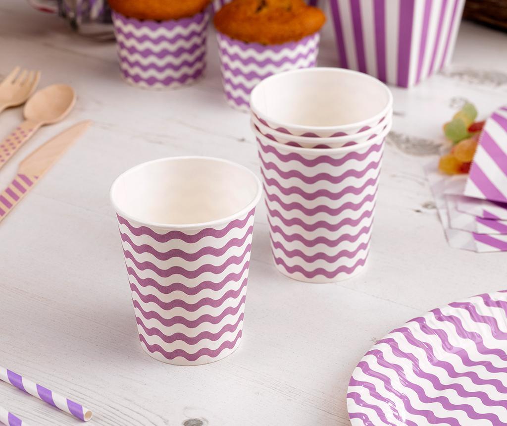 Carnival Waves Purple 8 db Egyszer használatos pohár