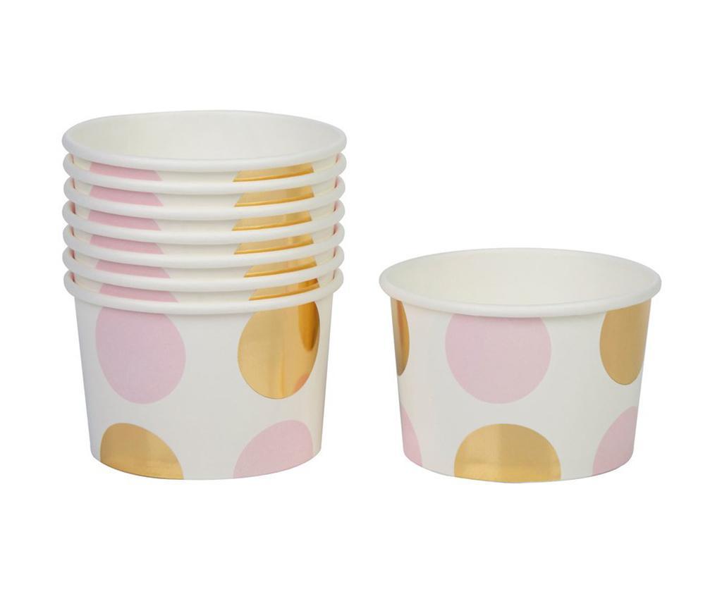 Pattern Works Dots 8 db Egyszer használatos pohár fagyinak