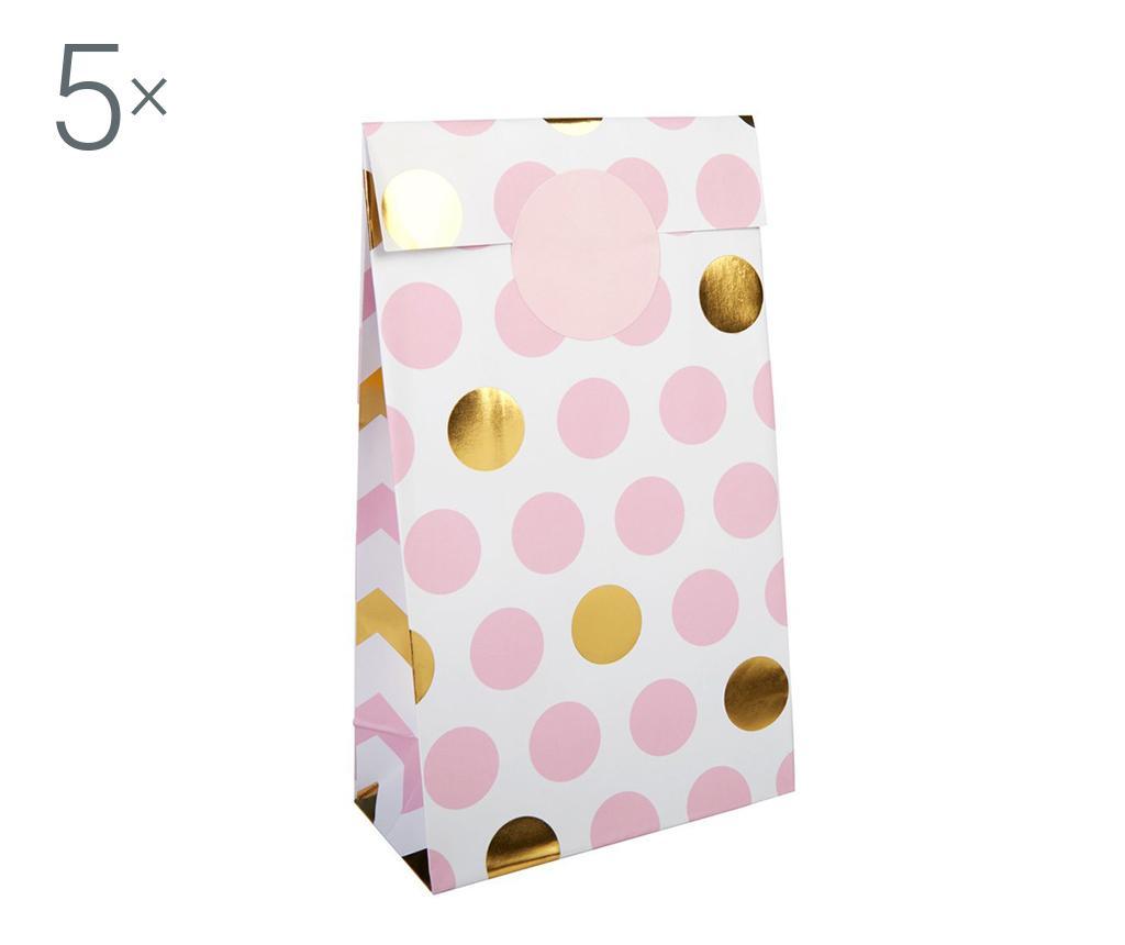 Pattern Works Dots Pink 5 db Jókívánság boríték
