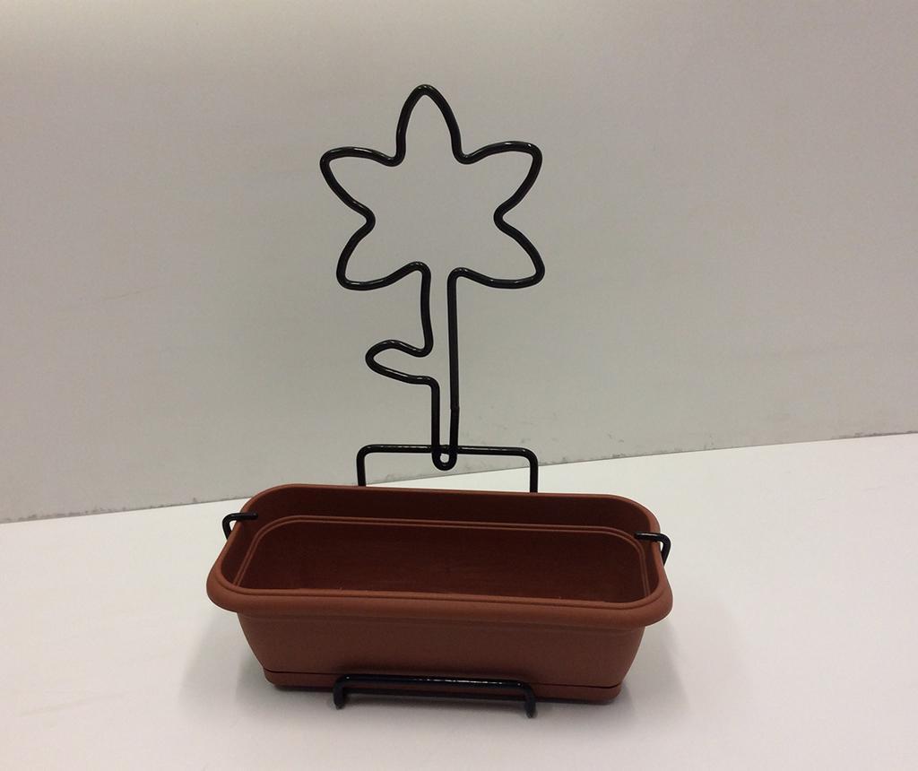 Cvetlično korito s stenskim stojalom Nature Line Lily