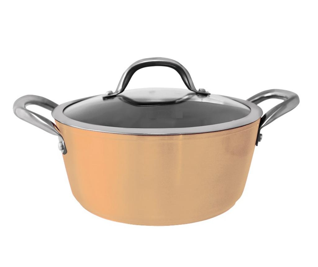 Posuda za kuhanje s poklopcem Karen Yellow 2.5 L