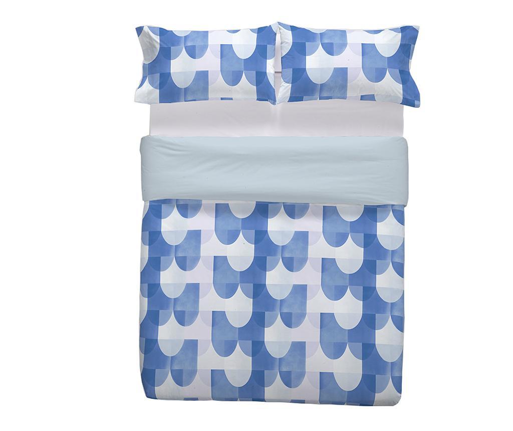 Set de pat Double Tirant Blue
