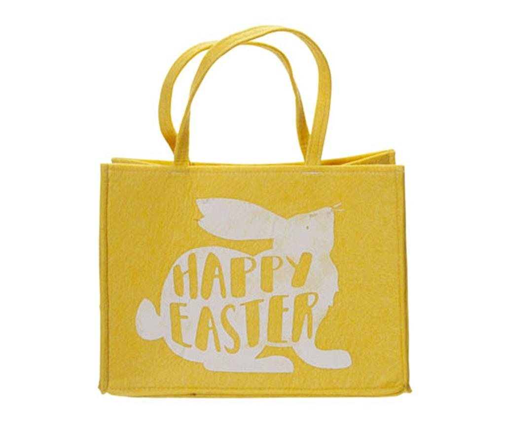 Geanta pentru cumparaturi Happy Easter Yellow